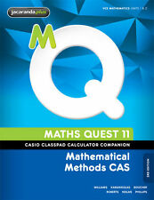 Maths Quest 11 Mathematical Methods CAS 3E Casio Classpad Calculator Companion '