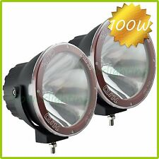 2PCS 7INCH 100W HID XENON DRIVING LIGHTS SPOTLIGHTS OFFROAD 4X4 Lights Big Power