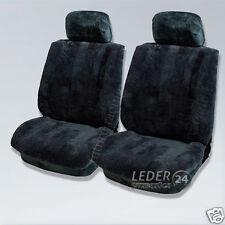 2x Sheepskin Seat Cover MERCEDES W202 W210 W211