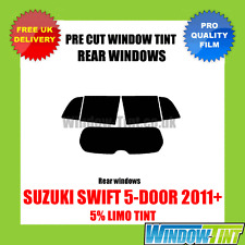 SUZUKI SWIFT 5-DOOR 2011+ 5% LIMO REAR PRE CUT WINDOW TINT