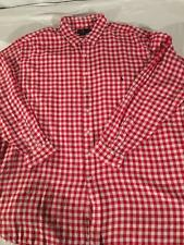 New Polo Ralph Lauren Big and Tall Gingham Dress Shirt 4XLT 4XT Checked Red