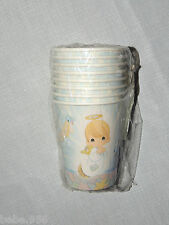 PRECIOUS MOMENTS  RELIGIOUS BLESSINGS BOY OR GIRL 8- PAPER  CUPS 9oz.