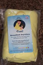 NEW yellow GERBER no fuss COZY no straps BREASTFEED ANYWHERE! baby BONDING