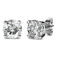 Genuine Swarovski Elements Solitaire Studs Earrings 18KGP - Krystal Couture