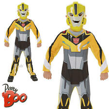 Bumble Bee Età 5 6 RAGAZZI TRANSFORMERS FANCY DRESS SUPERHERO KIDS COSTUME DA BAMBINO