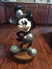 """Extremely Rare Mickey Mouse Steamboat Willie Big Figure 24"""" W/ Base Disney China"""