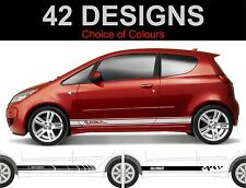Mitsubishi Colt side stripe decals sport Ralli art 2 off