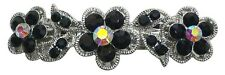 Flower Barrette with French Clip Clasp and Sparkling Stones U86250-1338