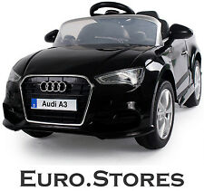 Crooza Audi A3 Cabrio 2015 Ride-On Black Electric Kids Children Car 1:4 Genuine