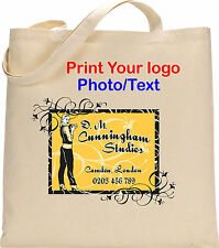 PERSONALISED TOTE COTTON BAG CUSTOM LOGO PHOTO TEXT STAG HEN CHRISTMAS GIFTS