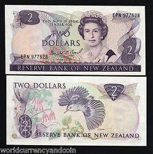 NEW ZEALAND 2 DOLLARS P170 1989 BIRD QUEEN UNC CURRENCY PAPERMONEY BILL BANKNOTE