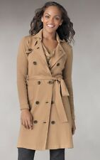 $168!!! NEW CAbi French Trench Sweater Coat - Classic Trench Styling - Size L