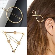 3PCS Fashion Lovely Hollow Out Geometry Gold Hair Clip Hairpin Barrette