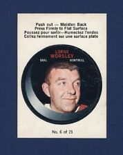 1968-69 O-Pee-Chee GUMP WORSLEY #6 of (21) PUCK PUSH-OUTS Nmmt !!