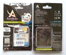 Batteria maggiorata originale ANDIDA 1980mAh x Lg Optimus Dual 2x P990 P993 P999