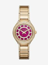 NWT Michael Kors MK3442 Women's Mini Kerry Gold-Tone Bracelet Watch 33mm $275
