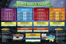 Euro 2012 Wall Chart - Maxi Poster 61cm x 91.5cm (new & sealed)