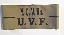 UVF Ulster Volunteer Force YOUNG CITIZEN VOLUNTEER BATTALION Jn OFFICER Armband