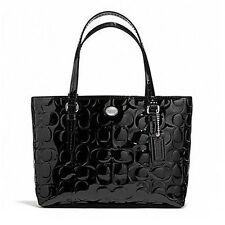 Coach Bag F52088 Peyton Signature C Embossed Top Handle Tote Black  #COD Paypal