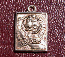 St. Mark the Evangelist Religious Charm Sterling Silver Relief Lion