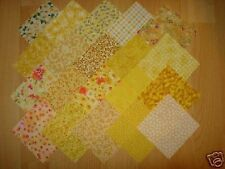 lot de 20 coupons de tissu patchwork jaunes