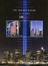 Tanzania 2011 MNH September 11th Memorial 3v M/S WTC Skyscrapers Stamps