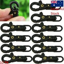 10 Outdoor Survival Carabiner Rotatable Buckle Hang Quickdraw Key Chain EDC Tool