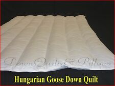 SUPER KING SUMMER QUILT -WALLED & CHANNELLED- 95% HUNGARIAN GOOSE DOWN- 1 BLK