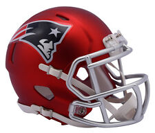 "NEW! 2017 ""Satin Chrome"" Edition NEW ENGLAND PATRIOTS Full Size Football Helmet"