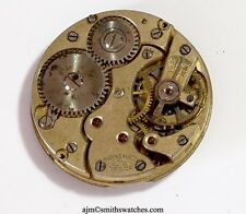 SS & CO SWISS LEVER IWC IMPORTER WRISTWATCH MOVEMENT  CC17