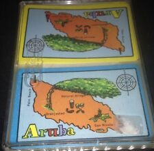 Aruba Double Deck Playing Cards Rum Bongos San Nicolas Palm Beach Map