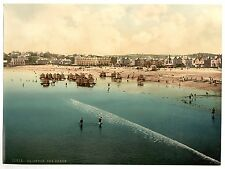 3 Victorian Views Pictures Paignton pier Beach Promenade Vintage 3 Old Photos
