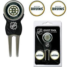 NHL Boston Bruins Golf Divot Tool and 3 Ball Markers Enamel Team Logo