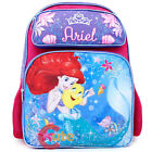 "Disney Little Mermaid Ariel Large School Backpack 16"" Girls Book Bag Sea Shell"