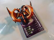 SKYLANDERS SWAP FORCE * MEGA RAM SPYRO * STAT CARD * USED * RARE * BUY IT NOW