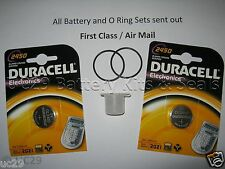 2 Duracell battery & O-ring Kit, Suunto Vyper, Vytec, Gekko,Zoop & HelO2 +grease