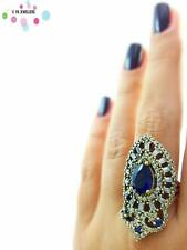 New Arrival 925 Sterling Silver Ring Size 9 Women Sapphire Turkish Jewelry R1664