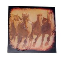 "Horse Born Free 8"" x 8"" Wood Plaque Sign for Home, Den, Office, Barn, Hallway"