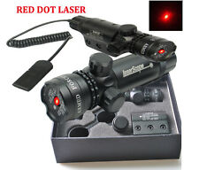 Red Dot Laser Sight Scope QD 20mm Picatinny Rail Mount For Rifle Gun Hunting
