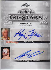 2013 POP CENTURY CO-STARS AUTO: RIC FLAIR + ROAD WARRIOR ANIMAL - DUAL AUTOGRAPH