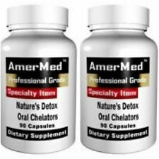 2 BOTTLES NATURE'S DETOX ORAL CHELATION 1000MG EDTA NAC MSM SUPPLEMENT 240 CAPS