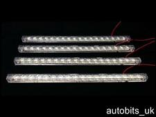 4 X 18 Smd 5050 Led Rígido Tira De Luz Tubo Bar Lámpara Blanco Brillante 12v 33cm 330mm