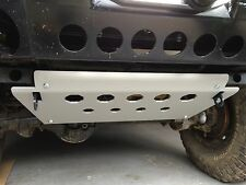 Land Rover Defender 90 110 Aluminum Steering Guard Skid Plate &Mounting Brackets