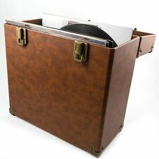 GPO 12 Inch LP Vinyl Record Case (brown)