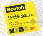 5 rolls 665 3M Scotch permanent double sided tape 1/2 inX900 in X 25yd
