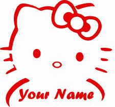 Customized Hello Kitty Vinyl Wall Car Decal Sticker BIG or SMALL Highest Quality