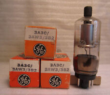 Lot Of 3 GE General Electric 3A3C/3AW3/3B2 Electronic Vacuum Tubes In Boxes NOS