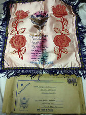 World War II Mother Pillow Cover Keesler Field MS with original mailing box