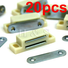 20 x Heavy Duty 6kg Magnetic Cupboard Door Catch Strong Door Cabinet Latch Cream
