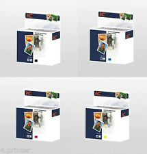 Full Set of 4 Ink Cartridges Compatible with Brother LC1100 LC980 Bk, C, M, Y